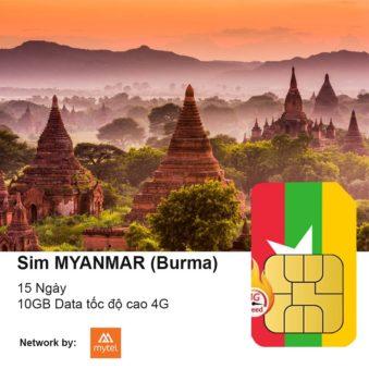 sim du lich Myanmar